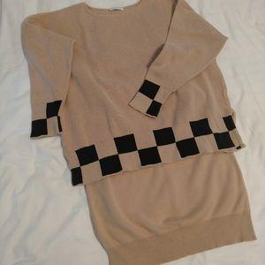 Joan Vass USA sweater and skirt set